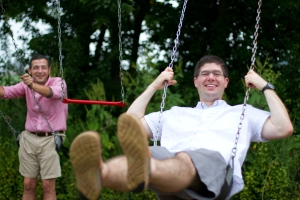 Having a Swinging Good Time with Friends