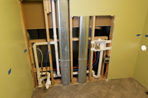 After the plumbing