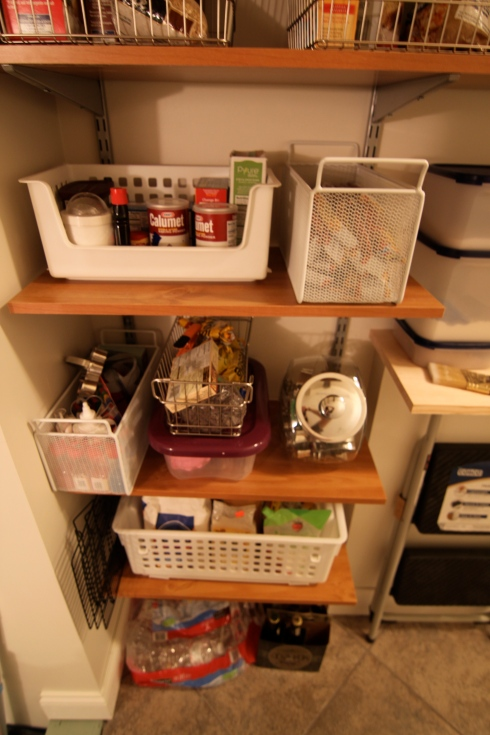 "Pantry room makeover ""after"""